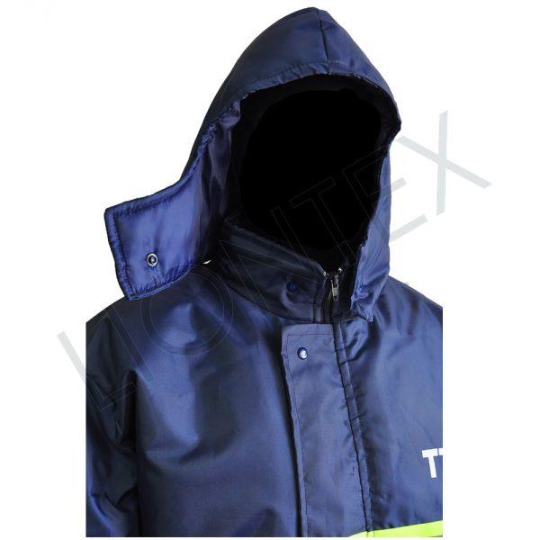 Campera Azul capucha